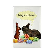 Easter Bunny Attitude Rectangle Magnet