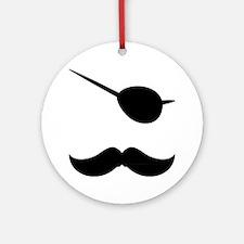 Mustache-049-A Round Ornament