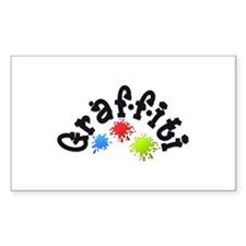 Graffiti Rectangle Bumper Stickers