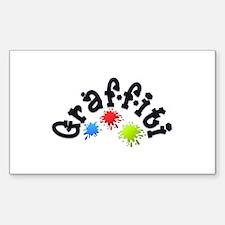 Graffiti Rectangle Bumper Stickers