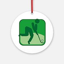 Feldhockey Round Ornament