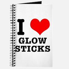 I Heart (Love) Glow Sticks Journal