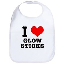 I Heart (Love) Glow Sticks Bib