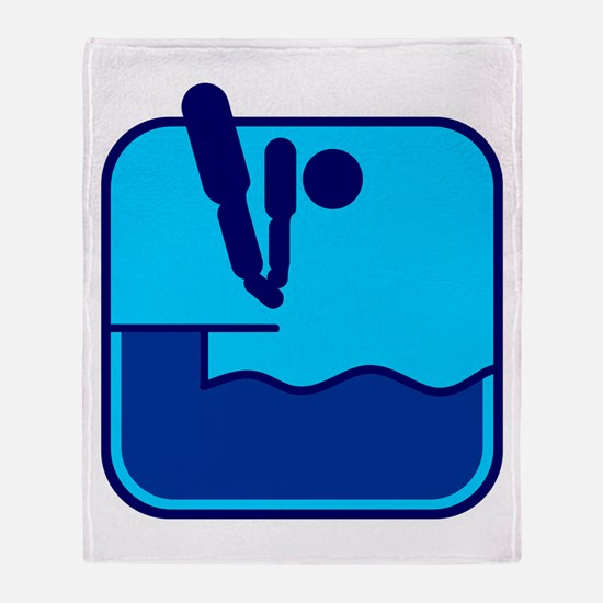 Turmspringen Throw Blanket