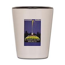Chicago Buckingham Fountain Vintage Ad Shot Glass