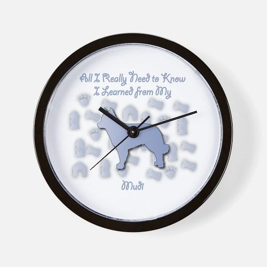 Learned Mudi Wall Clock