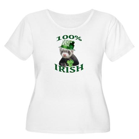 100% Irish Women's Plus Size Scoop Neck T-Shirt