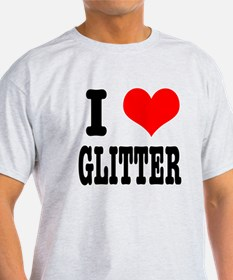 I Heart (Love) Glitter T-Shirt