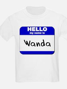 hello my name is wanda T-Shirt