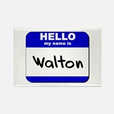 hello my name is walton Rectangle Magnet