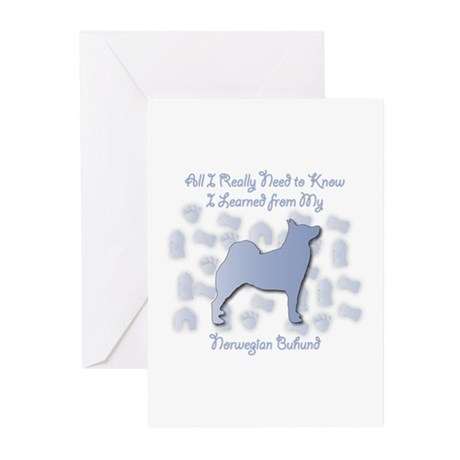 Learned Buhund Greeting Cards (Pk of 10)