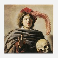 Frans Hals Young Man With Skull Tile Coaster
