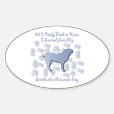 Learned Entlebucher Oval Decal
