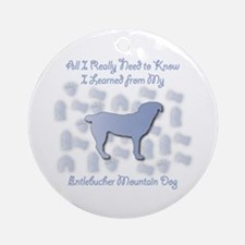 Learned Entlebucher Ornament (Round)