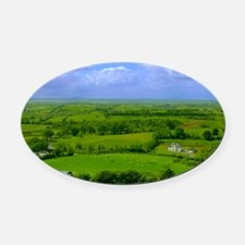 Ireland Green Pastures Photo Oval Car Magnet