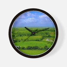 Ireland Green Pastures Photo Wall Clock