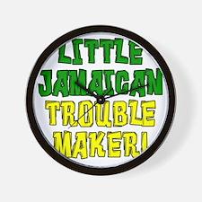 Little Jamaican Troulbe Maker Wall Clock