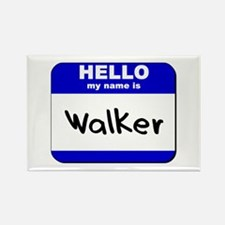 hello my name is walker Rectangle Magnet