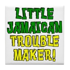 Little Jamaican Troulbe Maker Tile Coaster