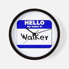 hello my name is walker  Wall Clock