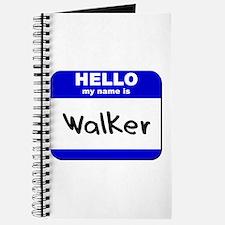 hello my name is walker Journal