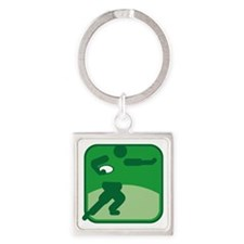 Rugby Square Keychain