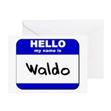 hello my name is waldo  Greeting Cards (Package of
