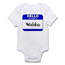 hello my name is waldo  Infant Bodysuit