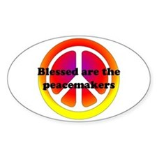 Peacemakers Oval Decal