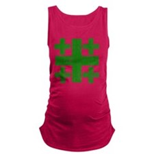 Pretty green christian cross 3  Maternity Tank Top