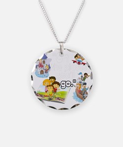 Oh the Places BL Necklace Circle Charm