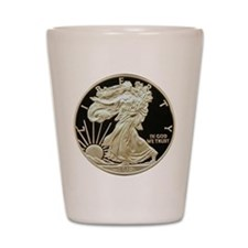2010 American Eagle Silver Coin Shot Glass