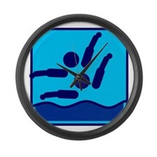 Synchronschwimmen Large Wall Clock