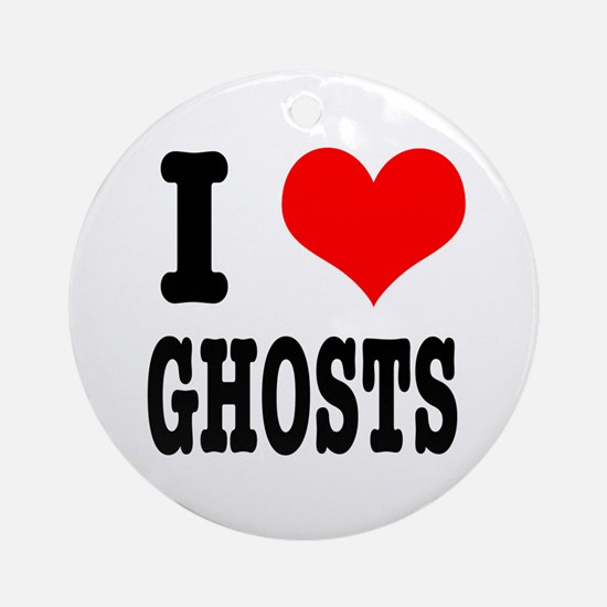 I Heart (Love) Ghosts Ornament (Round)