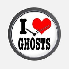 I Heart (Love) Ghosts Wall Clock