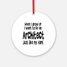 WIGU Architect Aunt Ornament (Round)