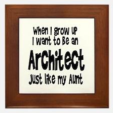 WIGU Architect Aunt Framed Tile