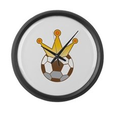 Soccer ball football king with a crown Large Wall
