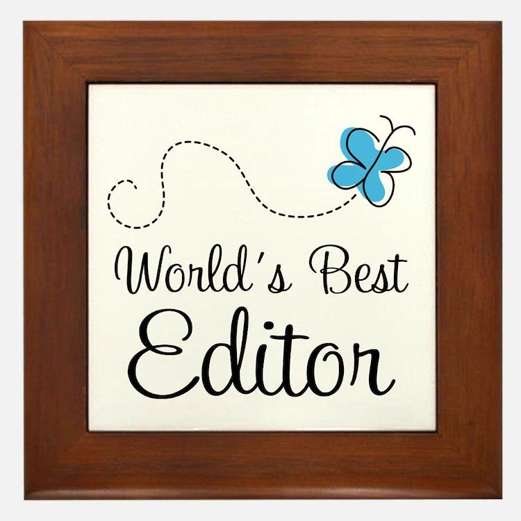 Editor (World's Best) Framed Tile