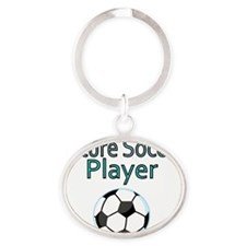 Future Soccer Player Oval Keychain
