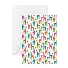 Giraffes Flip Flops Greeting Card