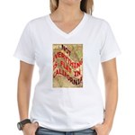 Flat California Women's V-Neck T-Shirt