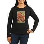 Flat California Women's Long Sleeve Dark T-Shirt