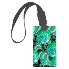 Emerald Satin Dreams Luggage Tag