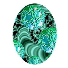 Emerald Satin Dreams Oval Ornament