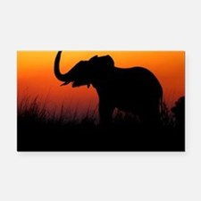 Elephant at Sunset Rectangle Car Magnet