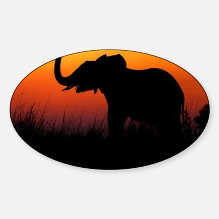 Elephant at Sunset Decal