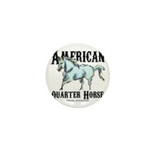 American Quarter Horse Mini Button