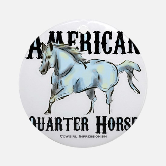 American Quarter Horse Round Ornament