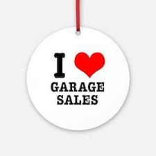 I Heart (Love) Garage Sales Ornament (Round)